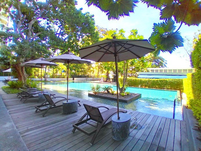 Condominium for rent Wong Amat Pattaya showing the communal pool